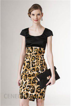 686bd614cf Claudia sukienka czarno-żółta - Ceny i opinie - Ceneo.pl