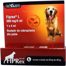 Fiprex L Pipeta 4Ml Dla Psów Od 20 Do 40Kg