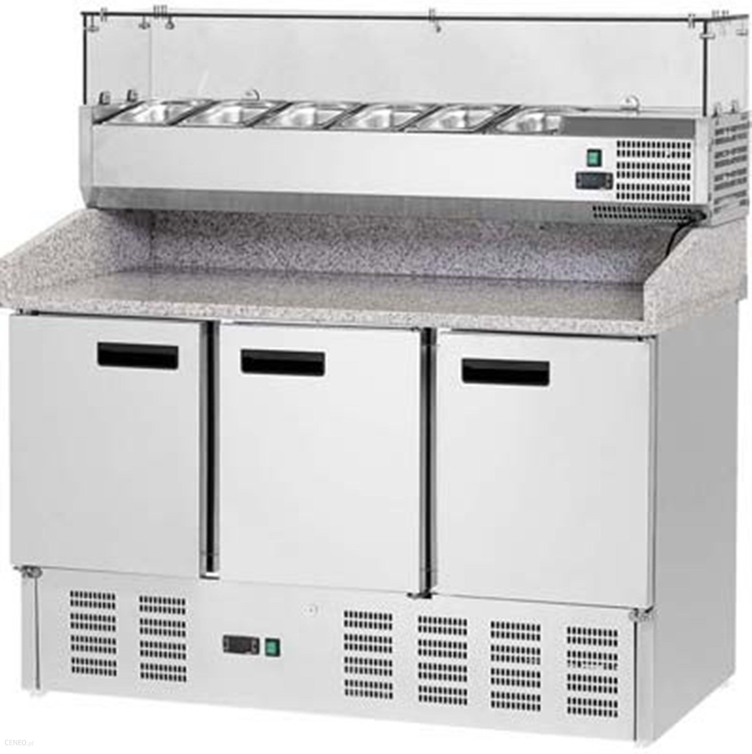 Modish Urządzenie chłodnicze Stalgast Stół Do Pizzy, 3 Drzwi, Z Nadstawką UT31