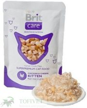 Brit Care Cat Pouch Kitten Chicken Cheese Saszetka 80G