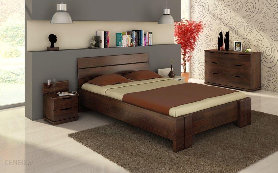 Visby łóżko Sosnowe Arhus High Materac