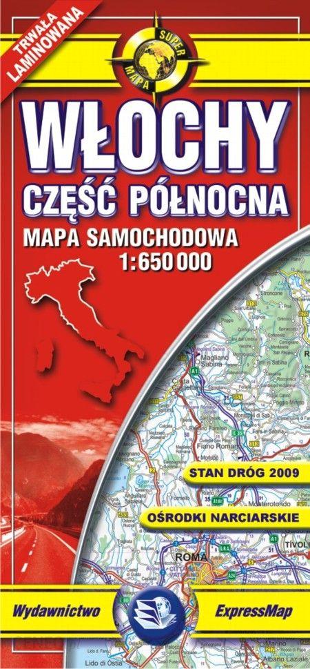 Wlochy Czesc Polnocna Mapa Samochodowa 1 650 000 Ceny I Opinie