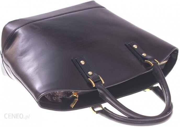 cbd577d83ae2e ... Torebka skórzana typu Shopperbag Łódka Czarna (kolory) - zdjęcie 4 ...