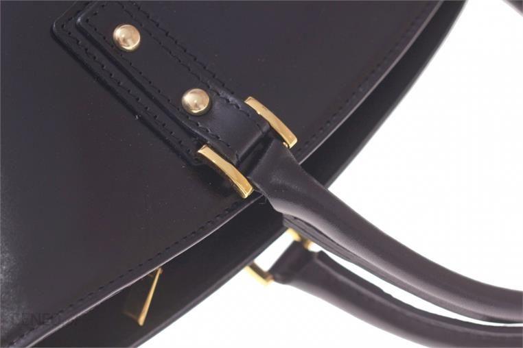 c9ffd5cfc5de9 ... Torebka skórzana typu Shopperbag Łódka Czarna (kolory) - zdjęcie 7 ...