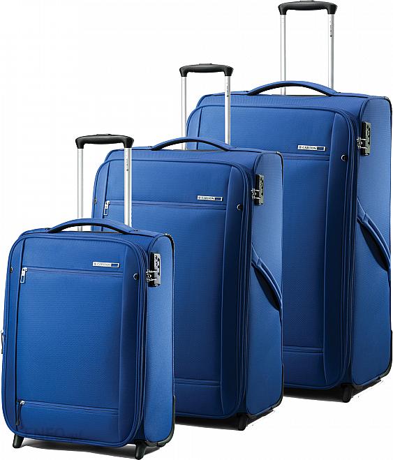 e37a3feb12637 Komplet walizek na kółkach Carlton O2 super lekkie niebieski - zdjęcie 1