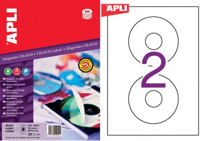 Apli Etykiety Na Plyty Cd Dvd Srednica 114 41mm 25 Ark Ceny I Opinie Ceneo Pl