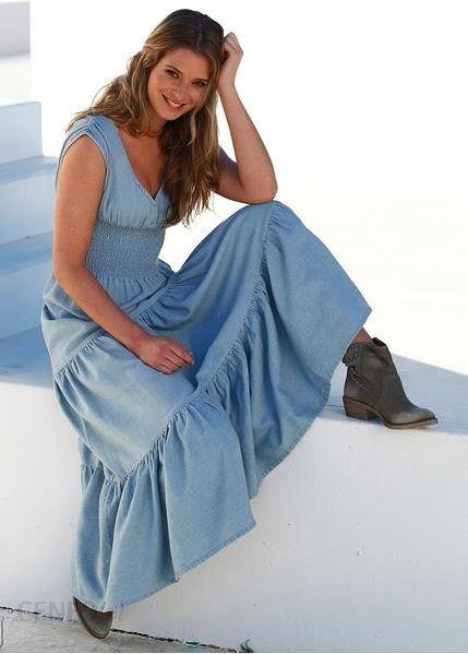 1baf35cdfc ... Bonprix Długa sukienka dżinsowa jasnoniebieski