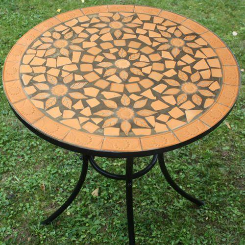 Metalowy Stół Stolik Z Mozaiką Ogrodowy Na Ogród