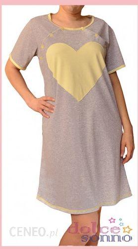 c1fcb5366ac15b Dolce Sonno Koszula nocna ciążowa i do karmienia Żółte Serce - zdjęcie 1