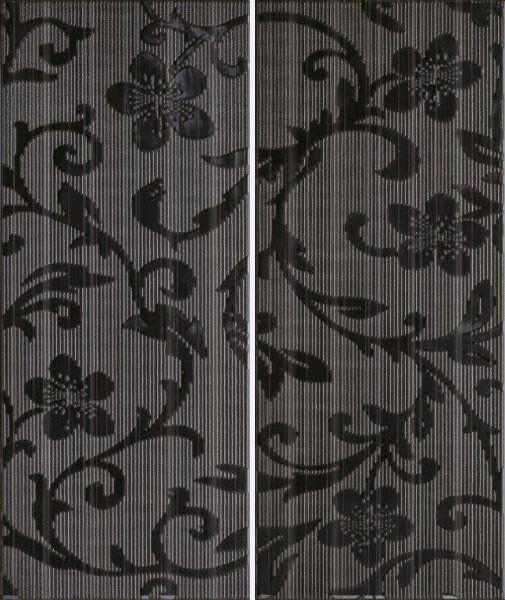 Ceramika Color Crypton Glam Black Dekor 25x60
