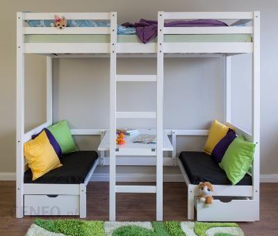 Vipack łóżko Dla Dzieci Piętrowe Z Biurkiem Pino Sosna Naturalna Piolbu10