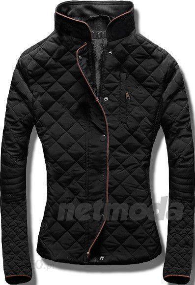 nowa pikowana modna kurtka lamówka stójka hit