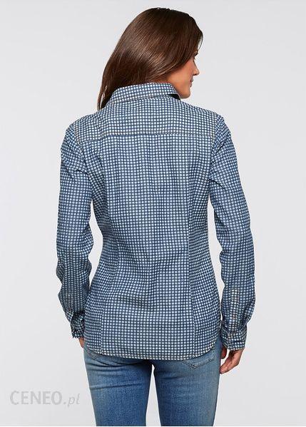 Bonprix Koszula dżinsowa niebieski stone used paisley