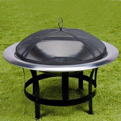 grill ogrodowy palenisko kominek grill ze stali nierdzewnej 75 cm ceny i opinie. Black Bedroom Furniture Sets. Home Design Ideas