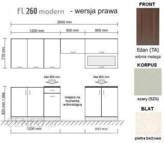 Black Red White Family Line 260 Prawy Edan Korpus Szary Fl 260