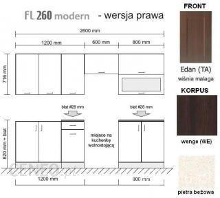 Black Red White Family Line 260 Prawy Edan Korpus Wenge Fl 260
