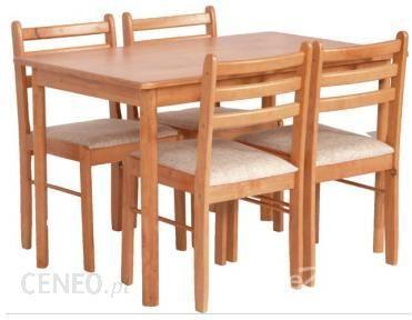 Black Red White Starter Bis Stół Starter Bis Stół 76x120 Krzesła 4 Sztuki Olcha Miodowa