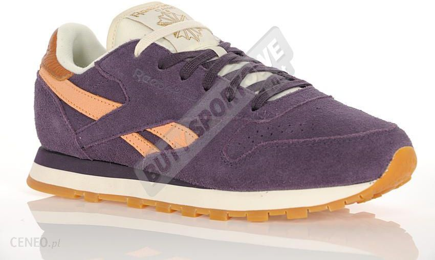 73b8a6c9cbc Reebok Buty Damskie CL Leather Suede Purple Orange Cream Wht - zdjęcie 1