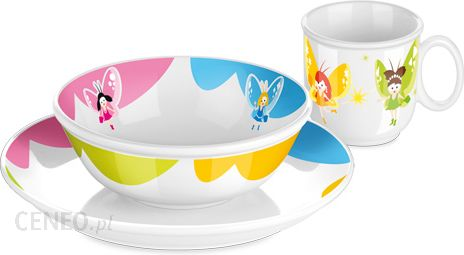 Tescoma Komplet Obiadowy Porcelana Sztućce Dla Dzieci Tescoma