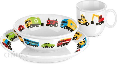 Tescoma Komplet Obiadowy Dla Dzieci Tescoma Bambini Autka Porcelana