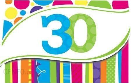 Zaproszenie Urodzinowe 30 Tka Kolorowe Kółka I Paski 1 Szt Ceny