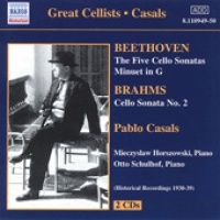 Pablo Casals - van Beethoven BEETHOVEN / BRAHMS - Cello Sonatas (Casals) (1930-1939) (CD)