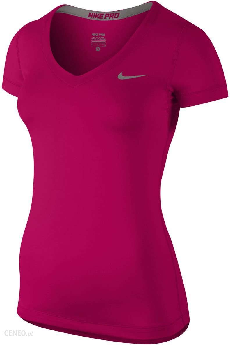 Nike PRO SS V NECK II. Koszulka damska czarna | Sport
