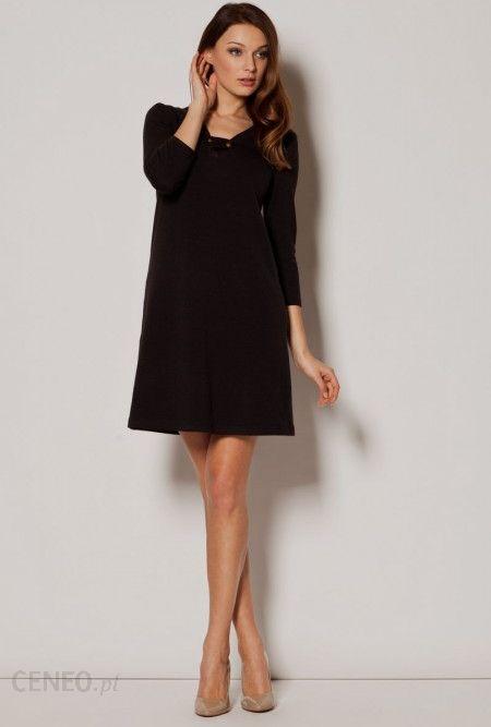 415f908683 Figl Luźna trapezowa sukienka M239 czarna - Ceny i opinie - Ceneo.pl