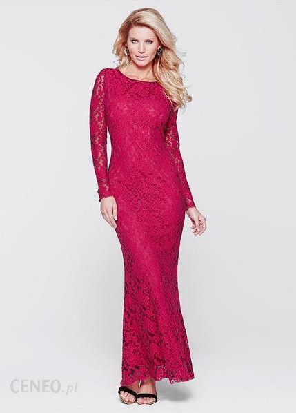 9b76a25ff ... Bonprix Długa sukienka koronkowa 977721_34746 czerwono-czarny - zdjęcie  3 ...
