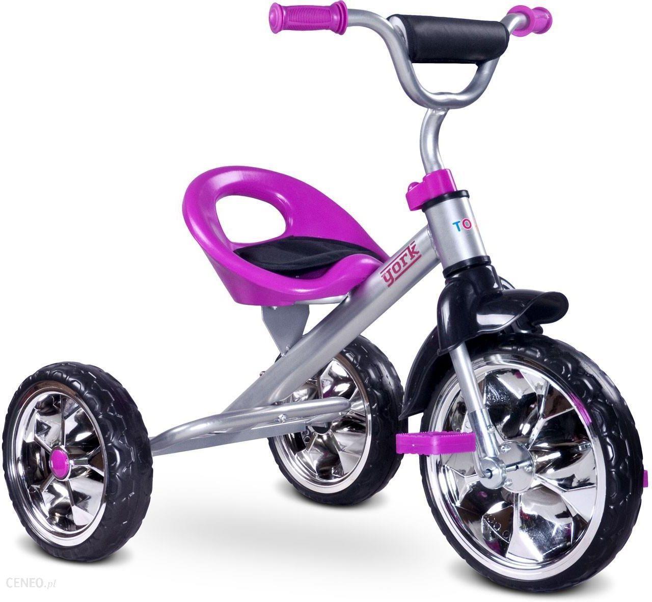 Toyz Rowerek 3 Kolowy York Purpurowy Ceny I Opinie Ceneo Pl