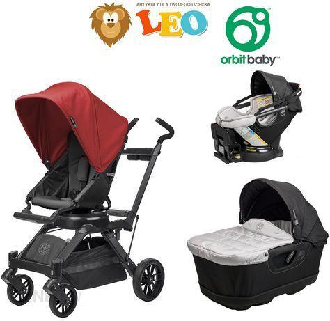 Wózek Orbit Baby G3 Black Głęboko Spacerowy + Fotelik ...