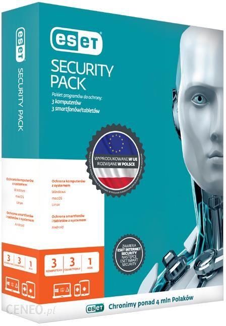 ESET Security Pack 3+3 1Rok Kontynuacja ESD (ESPK1Y3D)
