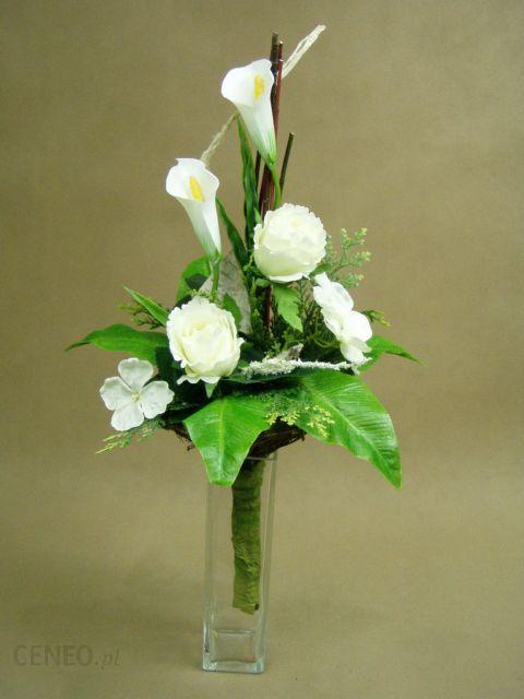 Cantadeskia Biała Róże Białe Bukiet 1000 Sztuczne Kwiaty Mała