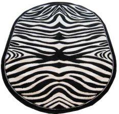 Paka Dywan Owalny Fryz Zebra Wycinany 120x170