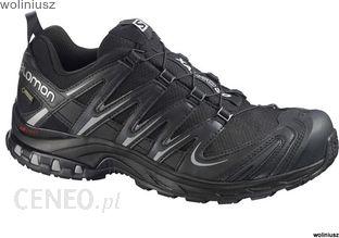 Buty sportowe męskie Salomon czarne sznurowane gore tex