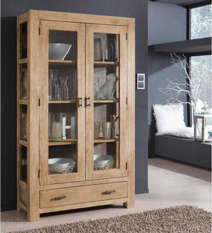 mobel wolf guru snow drewniana witryna 2 drzwiowa z 1 szuflada drewno akacjowe 100x175cm 6600sn buhl wolfsburg online