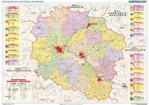 Mapa Scienna Meridian Wojewodztwo Kujawsko Pomorskie Mapa