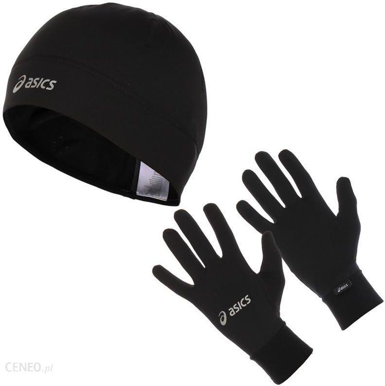Asics zestaw do biegania czapka + rękawiczki Running Pack Ceny i opinie Ceneo.pl