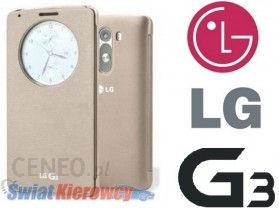 size 40 cd530 7063c LG ORYGINALNE CCF-340G DO LG G3 - QUICK CIRCLE CASE - - - CCF340G - ZŁOTY /  GOLD - VIEW COVER (AAA75667403)