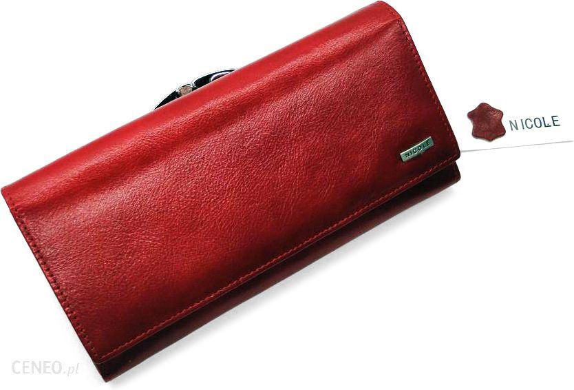 28d4915b115b5 Portfel damski NICOLE - czerwony