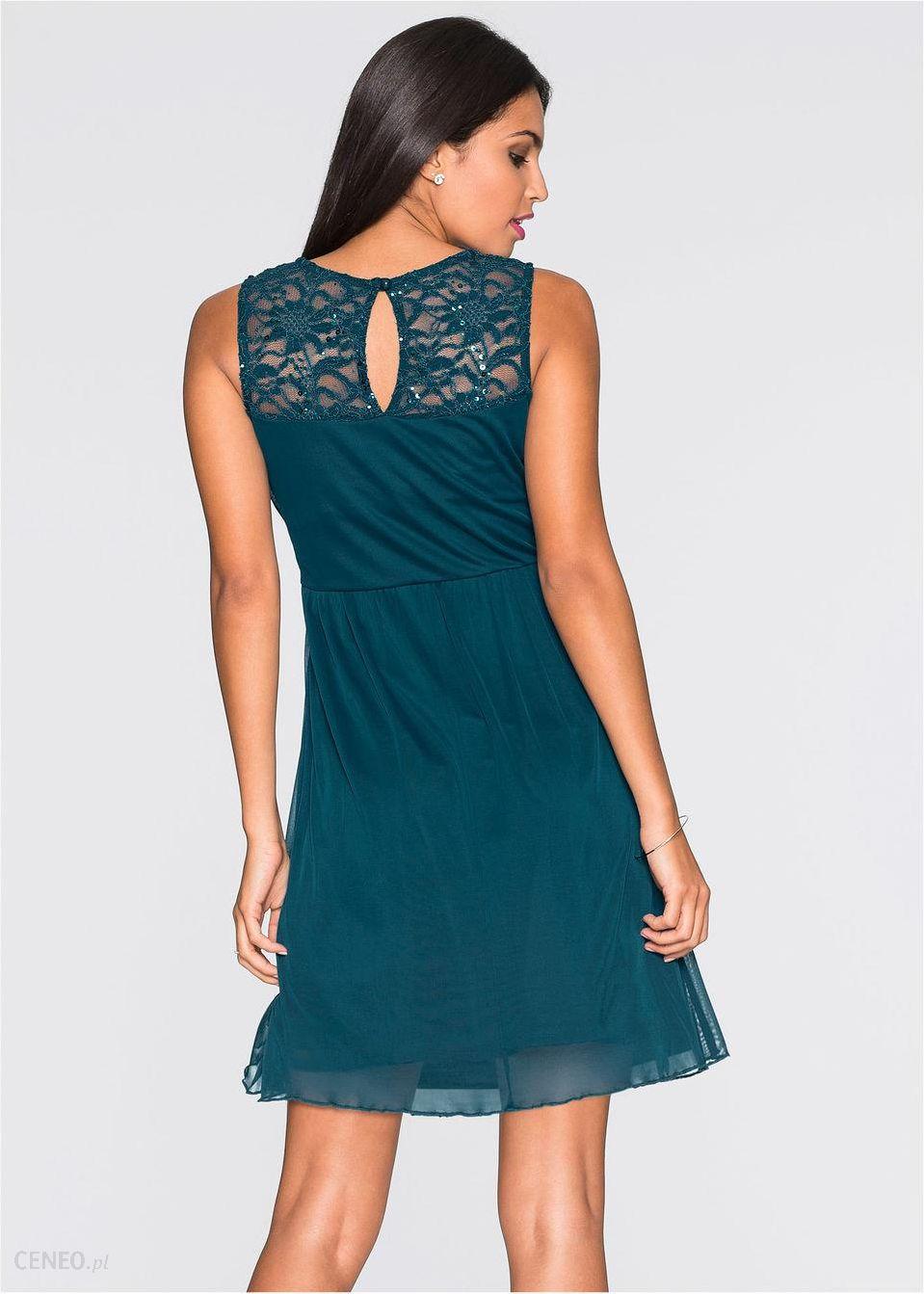 645851d010 Sukienka szmaragdowy - Ceny i opinie - Ceneo.pl