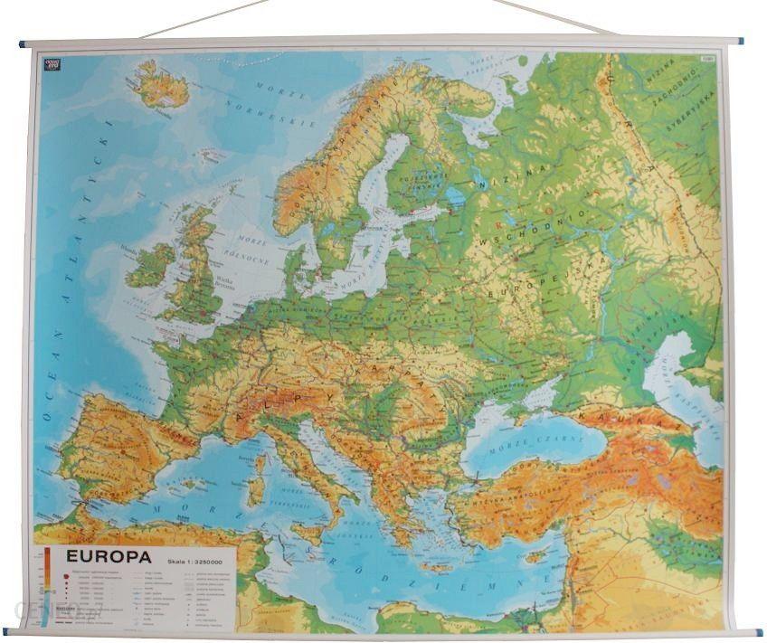 Mapa Scienna Nowa Era Europa Mapa Scienna Dwustronna Fizyczna Z