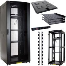Linkbasic Rack Cabinet 19'' 42U 800X900Mm Black (Perforated Steel Doors) (NCF4288KLAC) - zdjęcie 1