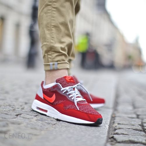 huge selection of c7fa3 87fb3 Buty Nike Air Max 1 Jacquard  quot Gym Red Laser Crimson quot  (644153 ...