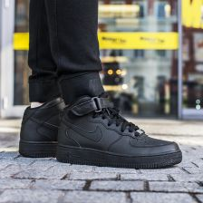 Buty Nike Air Force 1 Mid (GS) All Black (314195-004)