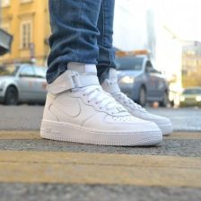 Buty Nike Air Force 1 Mid (GS) All White (314195 113) Ceny