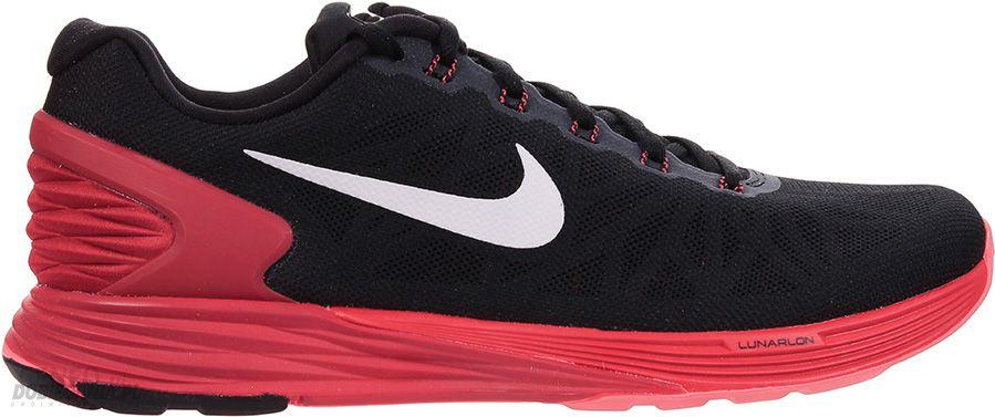 new concept ee2ca 57d71 ... Nike Lunarglide 6 Czarny Czerwony - zdjęcie 1 .