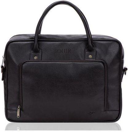 02e6aa6f5fc73 Skórzana torba na ramię/ tablet Solier Messel SL31 - Brązowy - Ceny ...