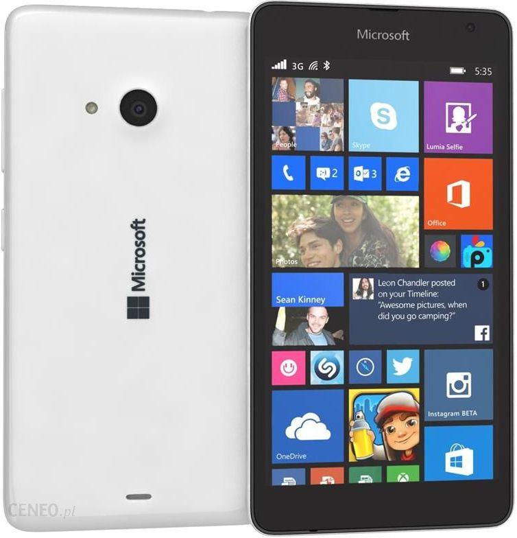 Microsoft Lumia 535 Bialy Cena Opinie Na Ceneo Pl