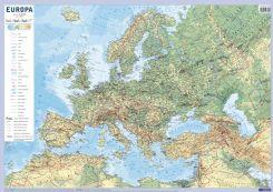 Europa Mapa Scienna Fizyczno Polityczna I Konturowa 1 10 000 000